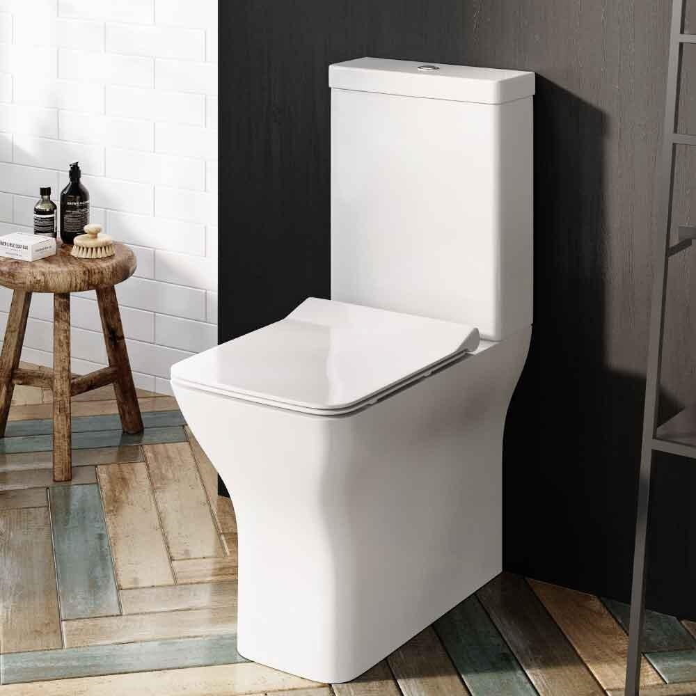 Harlem Comfort Height 450mm, Fully Back to Wall Rimless Pan inc slim soft close seat.