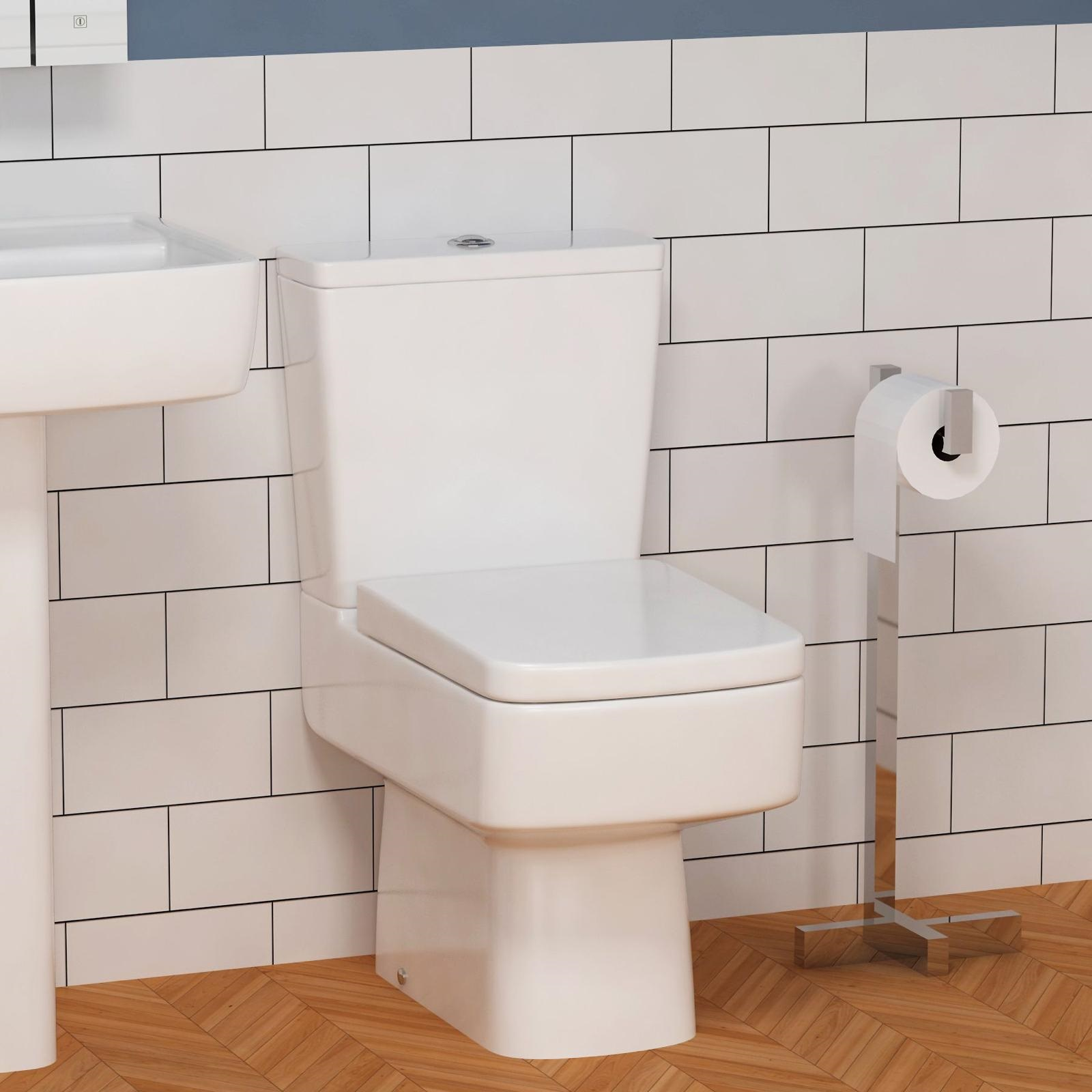 Short Projection 610mm Square WC inc soft close seat